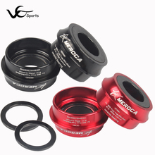 MEROCA BB30 PF30 black ceramic bearing axis press in KLUBER bicycle bottom bracket ultralight 104g 7075AL CNC bike axis durable(China)