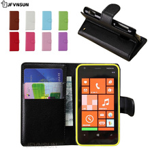JFVNSUN Case for Microsoft Nokia Lumia 620 NEW Card Slot Wallet Magnetic Leather Flip Cover for Nokia Lumia 620 Stand Phone Bag