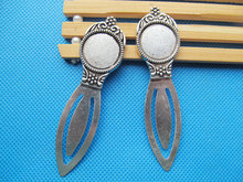 10pcs Antique Silver/Antique Bronze Bookmark Base Setting Tray Bezel Pendant Charm,Fit 18mm Cabochon/Picture/Came
