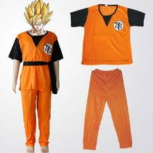 Halloween child Dragon Ball Z GoKu Letter GUI Cosplay Costume Fancy Party clothing for Kid