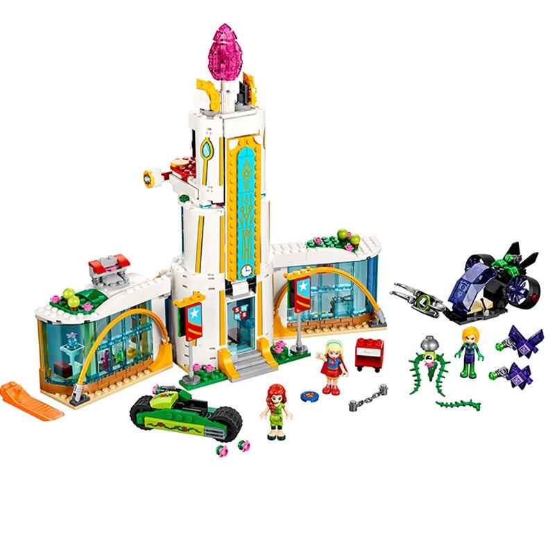 Bela 10618 719Pcs DC Super Hero Girl School Poison Ivy mini-doll Building Block Bricks Compatible With  Super Heroes 41232<br>