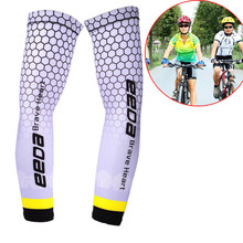 Cycling Running Volleyball Uv Sun Protection Protective Arm Sleeve Bike Sport Arm Warmers Cover Football Basketball Sleeves(China)