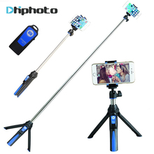 BENRO 33inch Handheld Tripod Selfie Stick 3 in 1 Bluetooth Extendable Monopod Selfie Stick Tripod for iPhone 8 Samsung Gopro 4 5(China)