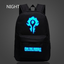 Epoch Fashion Horde World Of Warcraft Backpacks School Bag For Teenagers Casual Cool Luminous Backpacks Tribe Alliance Kid Gifts
