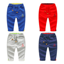 Baby boy anchor trousers 2017 autumn children's clothing kids fashion casual child trousers Children pants boys sport pants(China)