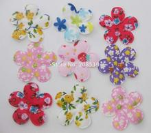 PA0080 35mm 5 petal felt flower patch Mix 200pcs decorative craft and scrapbooking ornament DIY hair accessories