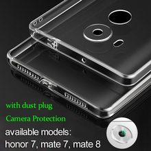 for Huawei Honor 7 case mate 8 mate 9 Honor 8 soft TPU material with dust plug cover full camera protection free shipping