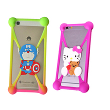 3D Cartoon Soft Elasticity Silicone Case for Lenovo A1000 A 1000 Cover Phone Case for Lenovo A369 A369i A308T A 369(China)