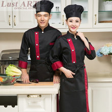 Food Service black white red chef jacket restaurant hotel kitchen cook uniform clothes chinese style chef uniform B004(China)
