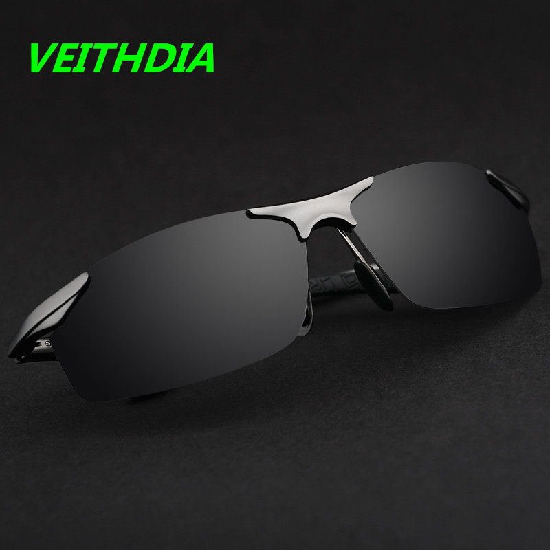 VEITHDIA Aluminum Magnesium Brand Designer Polarized Sunglasses Men Glasses Driving Glasses Summer 2017 Eyewear Accessories 6529(China (Mainland))