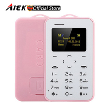 New Original Ultra Thin Mini AIEK/AEKU C6 Cell Phones Student Version Credit Card Mobile Phone Bluetooth PK AIEK M5 Card Phone
