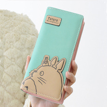 New Fashion Cute Long Women Totoro Wallet Portable Monnaie Zip Hasp Clutch Girl Purse Two Fold Wallets Female ID Card Holder