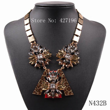 New 2017 Design Fashion Autumn Crystal Flower Brand Cheap Gold Chain Necklaces & Pendants Choker Jewelry For Girls