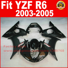 Hot ABS plastic motorcycle parts YAMAHA YZFR6 fairing kits 2003 2004 2005 matte black YZF R6 03 04 05 fairings body set U8 - ZXMOTOR Fairings Store store