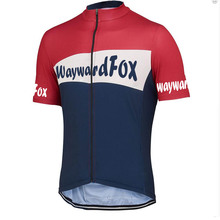 custom made Jersey 2017 NEW waywardfox Cycling Jersey Men's Cycling Clothing Team bike wear Bicycle Shirt SportsWear