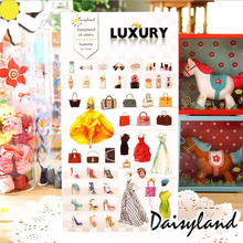 France fashion Girls Stickers /DIY scrapbook diary deco stickers/Decorative items/School stationery Supplies GT372