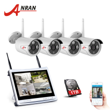 ANRAN 4CH CCTV System Wireless 720P 12 Inch NVR Security Camera System 4PCS 1MP IR Outdoor P2P Wifi IP Camera Surveillance Kit