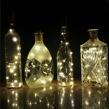 1PCS  2m 20LED Battery Powered Wine Bottle Lights 200CM Cork Shaped String Lights Christmas holiday decoration lamp Wholesale