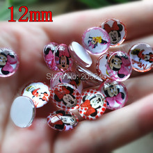 12mm glass cabochons for Jewelry setting 100pcs mixed samples shipped by rondom small size(China)