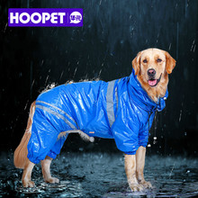 HOOPET Pet Large Dogs Raincoat Out Door walking Waterproof Detachable Rain Cover Water Protection Big Dog Clothes Blue