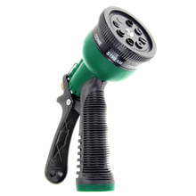 Green Plastic Copper Multifunction 7 Pattern Water Nozzle Household Garden Car Wash Whigh Pressure Water Gun