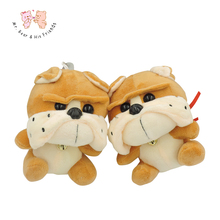 Kawaii Cute Cartoon Belldog Plush Stuffed Animals Soft Toy Brown Children Kids Baby Toy Playing Dolls Pendant 1pcs Car deco(China)