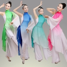 classical woman traditional chinese folk dance dance costumes for women children kids girls china national ancient dress costume(China)