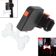 Waterproof COB LED Bone Shape USB Rechargeable Bicycle Red Rear Light with 5 Lighting Modes for Bicycle(China)