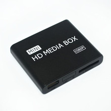 Full Multi TV Media Player HDMI 1080P HD USB SD MMC RMVB MP3 AVI MPEG Divx MKV+Car adapter Free Shipping!
