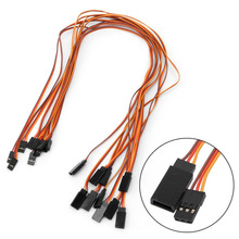 10Pcs 500mm Servo Extension Lead Wire Cable For RC Futaba JR Male to Female 50cm(China)