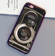 Vintage Twin Reflex Camera Printed Soft Rubber Skin Mobile Phone Cases For iPhone 6 6S Plus 7 7 Plus 5 5S 5C SE 4S Cover Shell