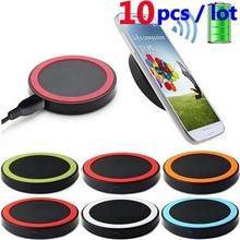 10PCS Universal Smart Phone 5V 1A Fast Wireless Charger Charging Transmitter Power Adapter Pad For iPhone Samsung Galaxy LG(Hong Kong)