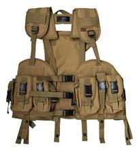 Tactical Clothes Accessoriess Airsoft Combat Outdoor Hunting Camofulage Molle Vests US Navy Seal Modular Load Assault Vest Tan(China)