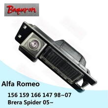 BOQUERON for Alfa Romeo 156 159 166 147 Brera Spider 05~ HD CCD Waterproof Car Camera reversing backup rear view camera(China)