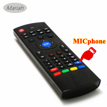 50pcs Best Quality MXiii Wireless Remote Fly Mouse mini Keyboard for TV BOX Media Player With micphone Better than T6 I8 Remote