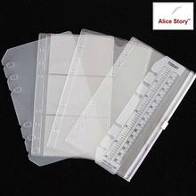 PVC storage bag Accessory set card bag A5 A6 spiral notebook zipper bill pocket insert loose leaf diary ring binder filler