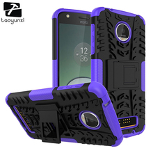 For Case Moto Z Play Droid 2016 Vertex XT1635 Covers Cases Hybrid Housing TPU PC Back Bags For Motorola Cover Military Kickstand