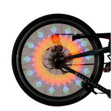 Colorful Bicycle Bike wheel Spoke Light LED Lamp Double Display 21 Flash Patterns 32 RGB LED Neon Lights For Bike wheel display