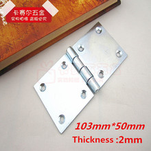 4pcs Furniture Flap Hinge Folding Table Desk Square Plate Turnover Hinge 103mm*50mm