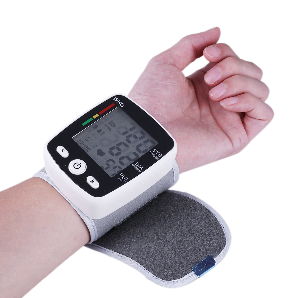 Portable Intelligent Digital Automatic Wrist Blood Pressure Monitor LCD Display Household Health Care Blood Monitors 15