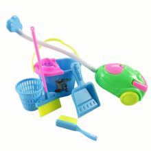 6 Items/Set Dolls Cleaning Kit Doll Accessories For Barbie Doll Household Cleaning Tools Play House Toys Best Kid's Gift(China)