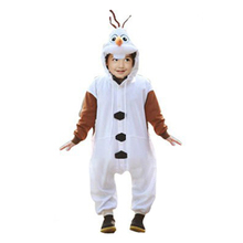 Kids Anime For Frozen Olaf Onesie Princess White Snowman Princess Cosplay Pajamas Halloween Party Costumes Jumpsuits Costumes