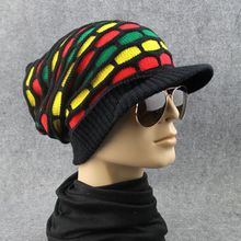 Casual Multi-Color Diamond Check Shape Hat Fashion High Quality Hip-hop Knitted Hat For Men And Women(China)