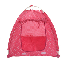 Pet Dog Cat house Kitten Cat Puppy Dog Mini Nylon Camp Tent Bed Play House pink For Travel Collapsible Easy Storage Cat-L