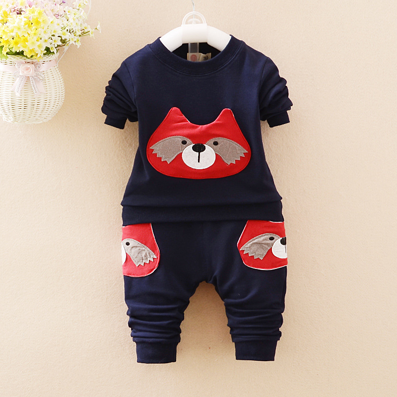 New Arrival 2017 Spring Baby Girls Boys Suits Cartoon Cotton T Shirt+Pants Casual 2 Pcs Infant Clothes Sets Kids Children Suits<br><br>Aliexpress