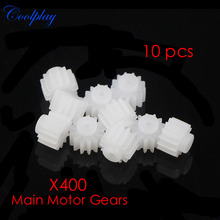 10 pcs  MJX X400 Plastic Main Motor Gears Spare Parts For  MJX X400 2.4G 6-axis RC Quadcopter Drone Free Shipping