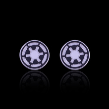 Vintage  Movie Cufflinks Star Wars French New Jewellery Luxury Custom Enamel  Brass Stamping Mens Cufflinks Dropshipping XK020