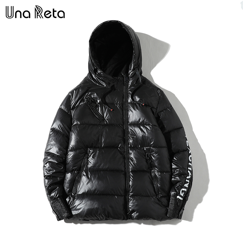 Una Reta Winter Jacket Coats Men New Casual Hooded Jackets Mens Hip hop Parka coat Plus size Fashion Zipper design Warm Coat Man