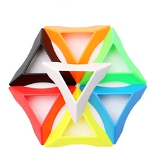 Z-Cube Magic Cube Base Plastic Colorful Puzzle Cube Accessories Good Children Kid Gift 10Pcs/Set Mixed Color Drop Shipping(China)