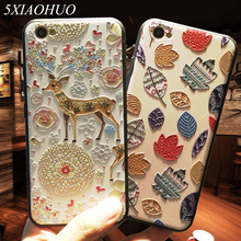 5XIAOHUO New 3D Stereo Relief Phone Case For Apple iphone 6 case Fashion Pattern For iphone 6 6S 7 Plus case(China)